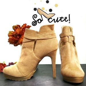 Forever 21 Vegan Suede High Heeled Booties